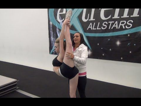Cheer Extreme Instructional Video Series Part 2 Scorpion Stretches for Flyers