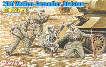 1/35 20TH Waffen Grenadier Div Baltic St '44 (4) (dml6477) DML Plastic Model Military Figures