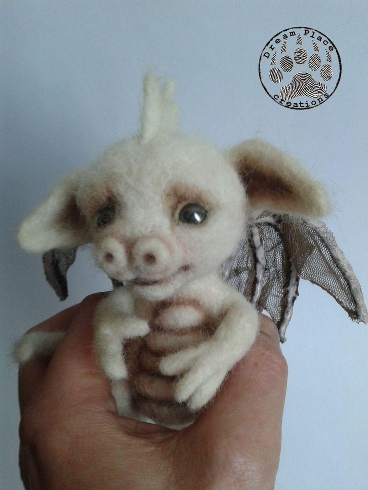 One of a kind baby dragon. #dragon #fantasy #needlefelting #handmade #art #baby #ooak #polandhandmade