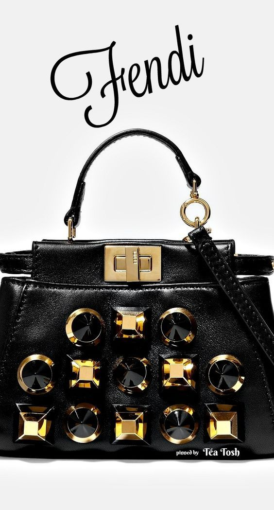 ❇Téa Tosh❇ Fendi | Peekaboo micro studded leather shoulder bag