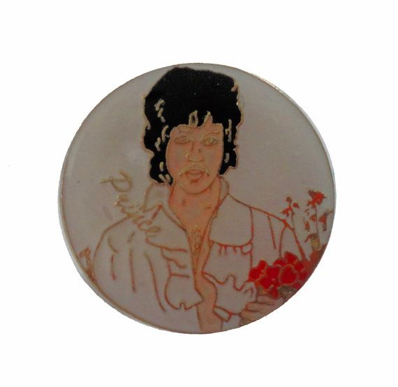 """PRINCE Controversy vintage enamel pin badge button soul funk 1980s lovesexy when the doves cry by VintageTrafficUSA  24.00 USD  Vintage Prince pin. Very rare! Excellent condition. Measures: approx 1"""" 20 years old hard to find vintage high-quality cloisonne lapel/pin. Beautiful die struck metal pin with colored glass enamel filling. Have some individuality = some flair! Add inspiration to your handbag tie jacket backpack hat or wall. -------------------------------------------- SECOND ITEM…"""