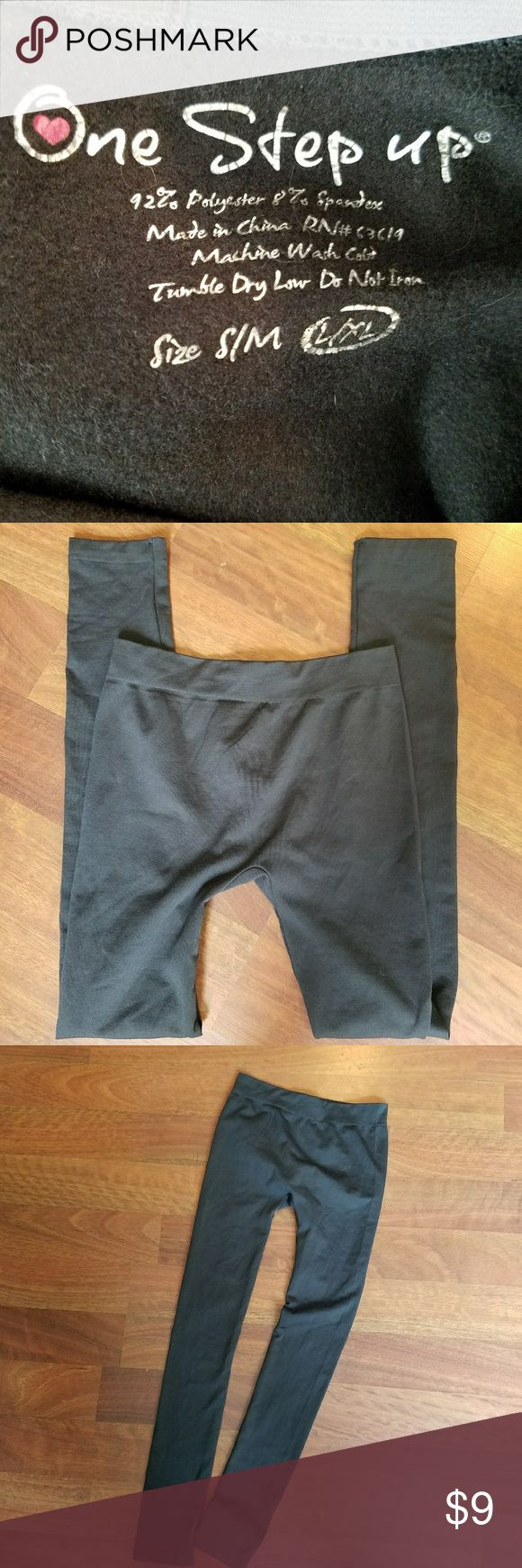 One Step Up Brown Leggings Size S/M These are in MINT shape. Color: Brown Size: L/XL Brand: One Step Up One Step Up Bottoms Leggings