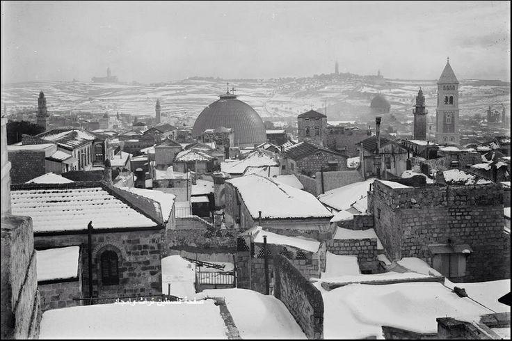 ثلج القدس، فلسطين ١٩٢١  Snow Jerusalem, Palestine 1921  Nieve Jerusalén, Palestina 1921