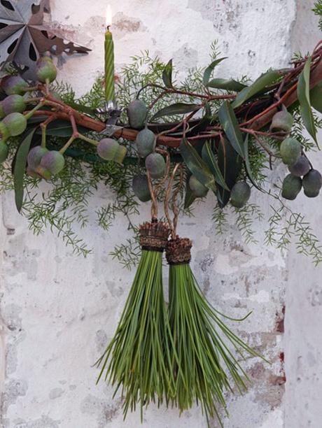 ❥ pine needle tassels