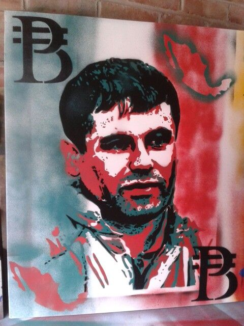 El chapo guzman draft painting for billion pesos paintings ...