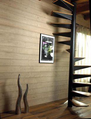 25 beste idee n over houten wanden op pinterest houten muur hout accent muren en recycled - Houten lambrisering plafond badkamer ...