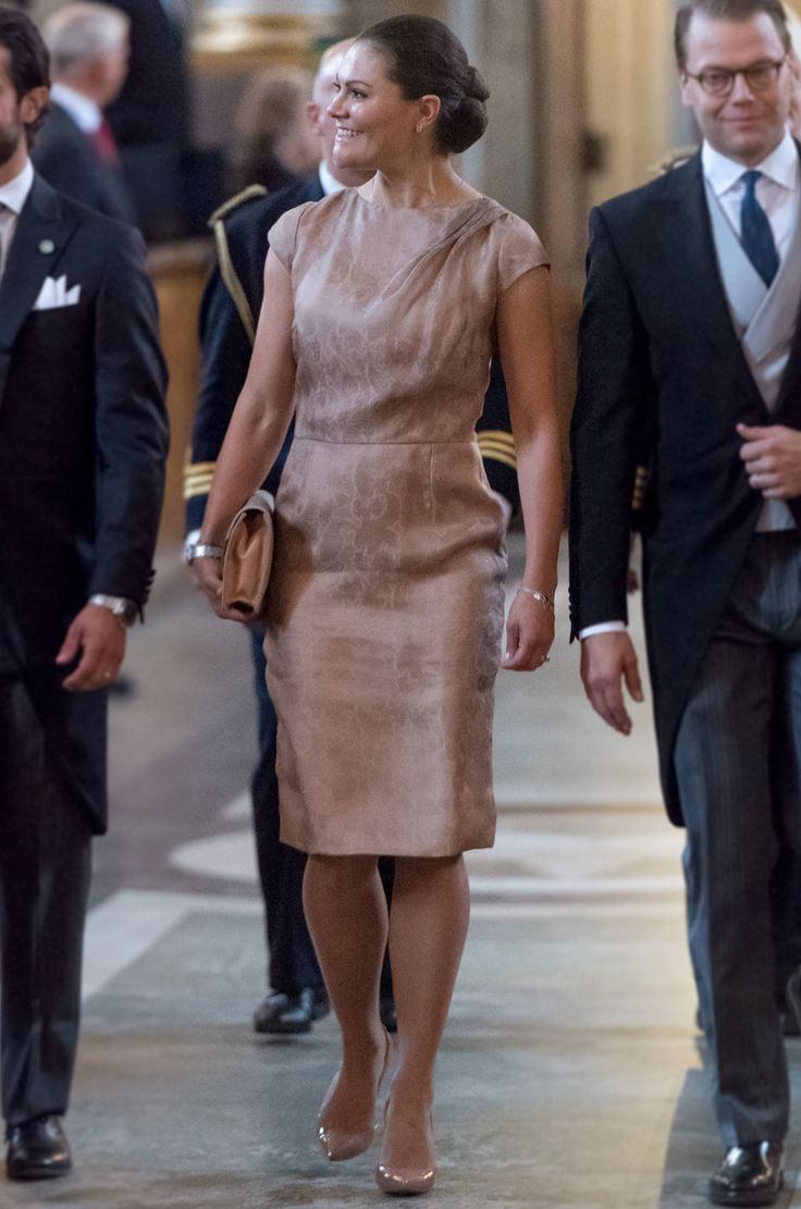 Crown Princess Victoria of Sweden and Prince Daniel of Sweden arrive to the Te Deum ceremony at the Royal Chapel for the new born Prince Gabriel, son of Prince Carl Philip and Princess Sofia in Stockholm, Sweden, on September 4, 2017.