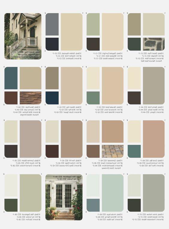 Outside House Paint Color Combination