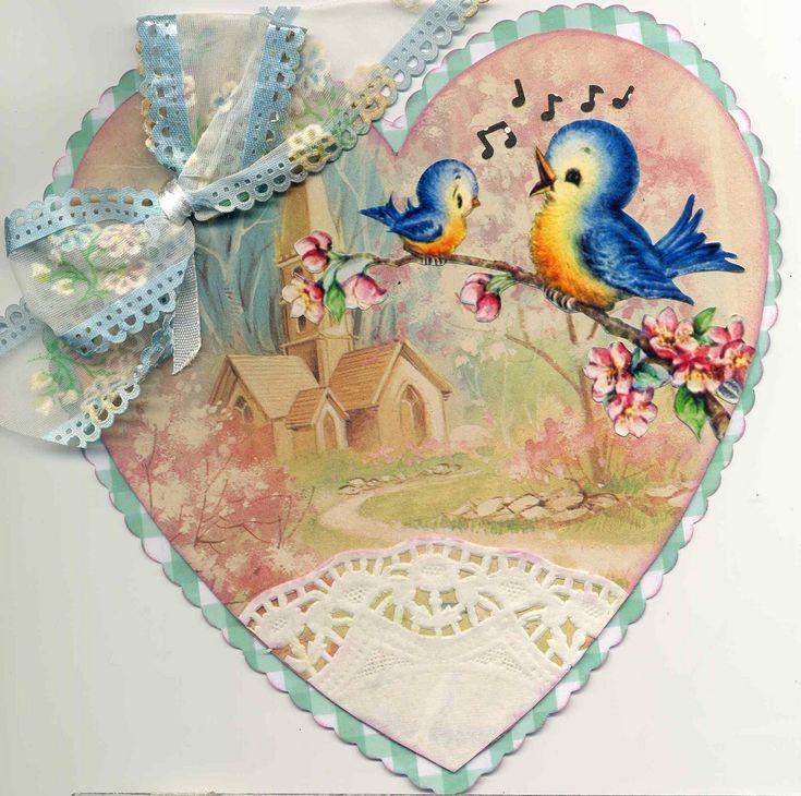 bluebird heart: Bluebirds Papercraft, Bluebirds Singing, Bluebirds Heart So, Bluebirds Women, Bluebirds Birds, Vintage Bluebirds, Blue Birds, Bluebirds Of Happy, Heart Cards