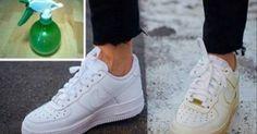 Astuce simple pour nettoyer vos chaussures blanches sales et les rendre comme…