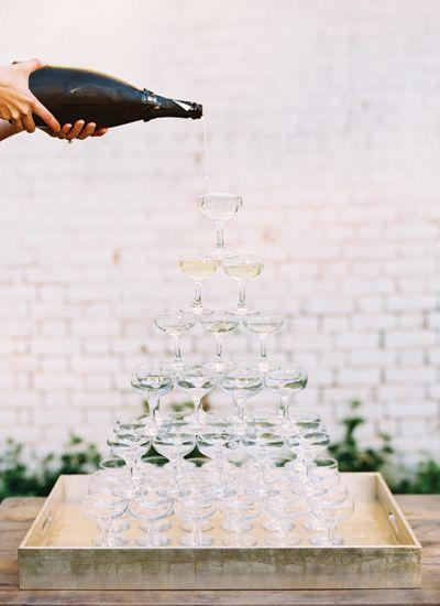 champagne tower | Landon Jacob #wedding