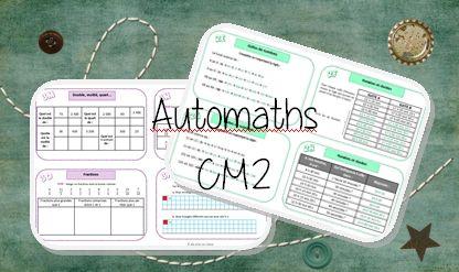 Voici les cartes pour les CM2. J'utiliserai les manuel Cap maths CM2 pour les recherches et les exercices de réinvestissement.              la suite bientôt …     L…