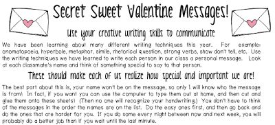 Classroom Freebies Too: Sweet Valentine's Messages