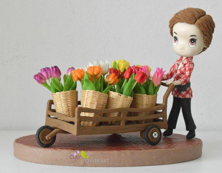 Poo Karan (Flower Seller)   Clay Flower Art