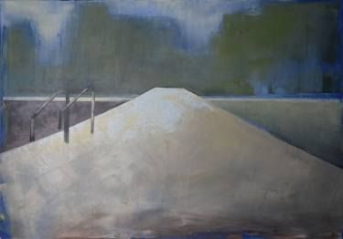 """""""Lake 55"""". Oil painting on cotton canvas. Size 39.37/27.5 inches (100/70 cm)."""