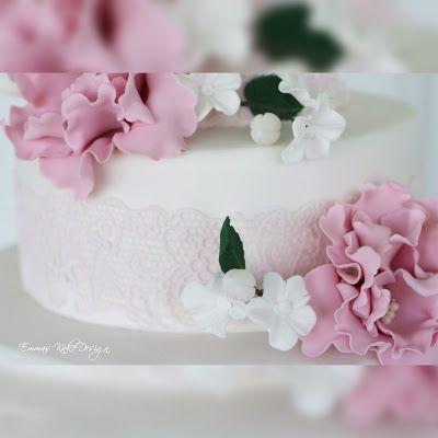 Emmas KakeDesign: Hvordan lage blonder av SugarVeil på kaken!