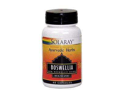 Boswellia Solaray se ha utilizado como ayuda para el tratamiento de problemas inflamatorios como la artrosis y artrosis reumatoide,  La Boswellia ayuda bloquear la síntesis de leucotrienos, son unas sustancias de nuestro organismo que pueden producir la inflamación y propiciar la aparición de radicales libres, inflamatorias como la colitis ulcerosa y la psoriasis. La Boswellia también podría ser utilizada para ayudar a disminuir los níveles de colesteros y trigliceridos en sangre.