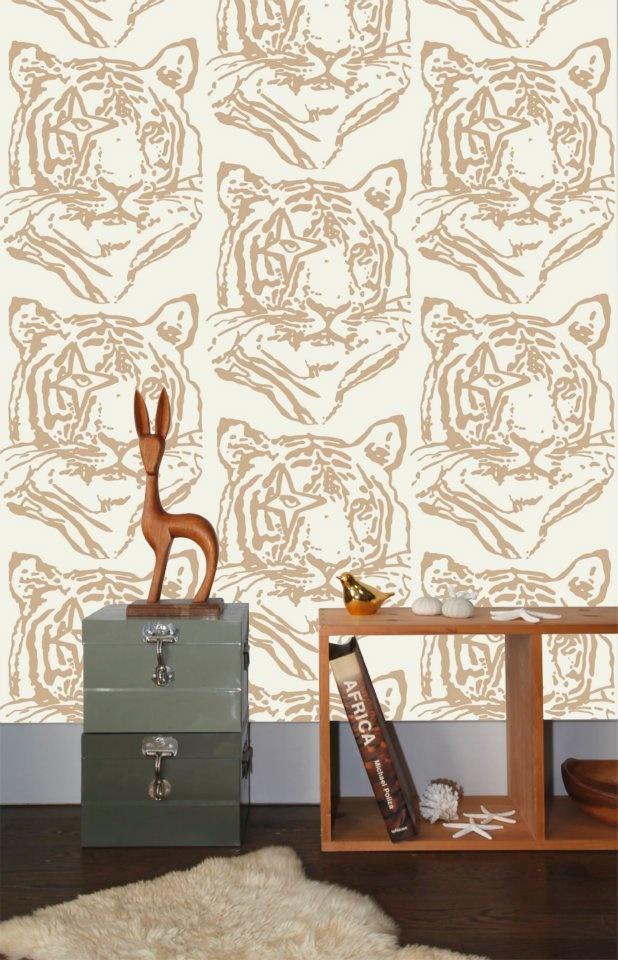 Tiger wallpaper by Aimee Wilder and Ivana Helsinki