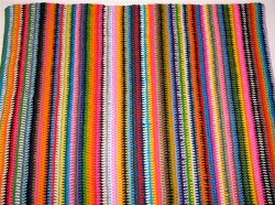 Vintage Vertical Stripe Blanket- could be gorgeous with a killer border around it