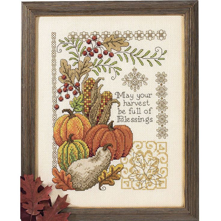 Harvest of Blessings - Cross Stitch, Needlepoint, Stitchery, and Embroidery Kits, Projects, and Needlecraft Tools | Stitchery