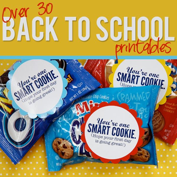 30+ free Back to School printables.  Super cute stuff on this site and tons of other fun printables, too!