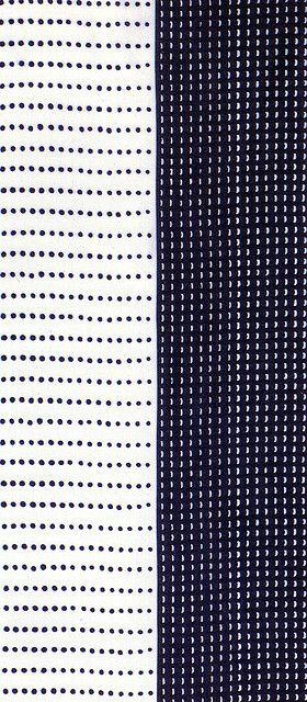 Tenugui: Detail Engobe scrafitto black side inlay white