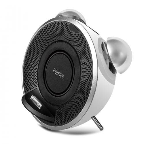 Edifier Retro-Styled iTick Tock iPod/iPhone Docking System - White. Classic retro design enhances the modern features. Pivoting dock plays and charges your iPod/iPhone. Auxiliary 3.5mm input for additional audio connections. 2 passive radiator for excellent bass performance. 1 1/2 omni-directional full range speakers.