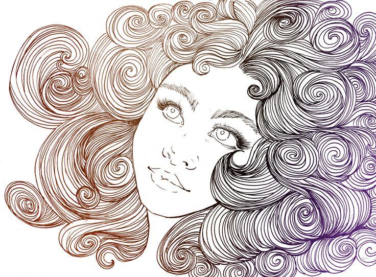 #illustration #curly #hair | arte | Pinterest ...