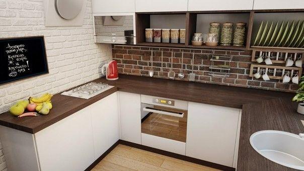 Лофт интерьер кухни