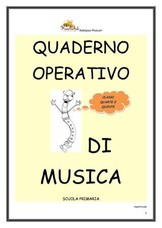 "Cover of ""Quaderno di musica"""