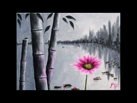 Boat on the beach Step by Step Acrylic Painting on Canvas for Beginners - YouTube