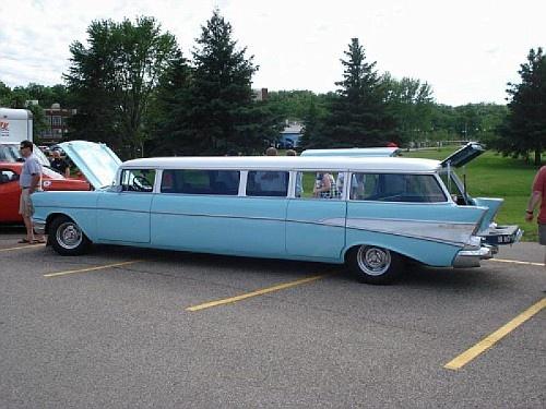 1957 chevy wagon limo