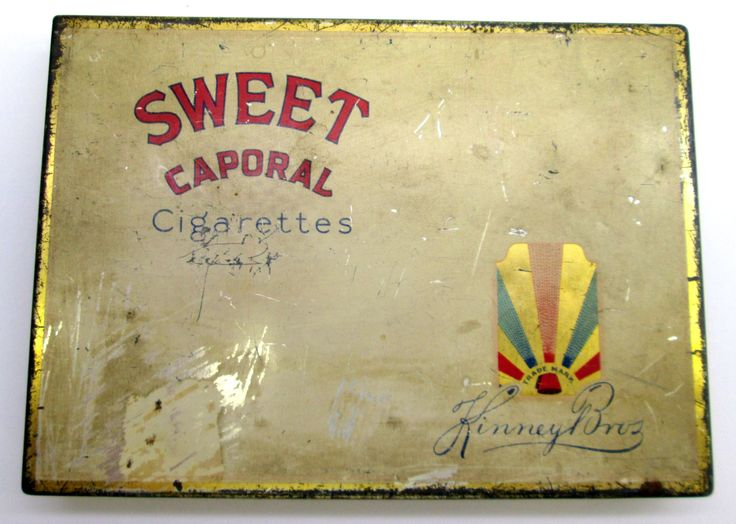 Vintage 1940s WWII Sweet Caporal Cigarettes Tin box flat 50 Imperial Tobacco Canada by Collectingly on Etsy