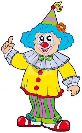 funny clown pictures | Funny smiling clown stock vector clipart, Funny smiling clown - vector ...