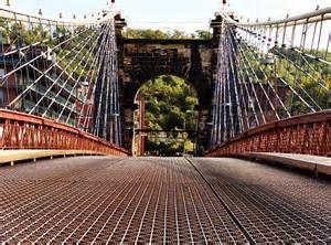 Suspension Bridge, Wheeling, West Virginia Walked over this bridge.. cute bridge in Wheeling, West Virginia USA