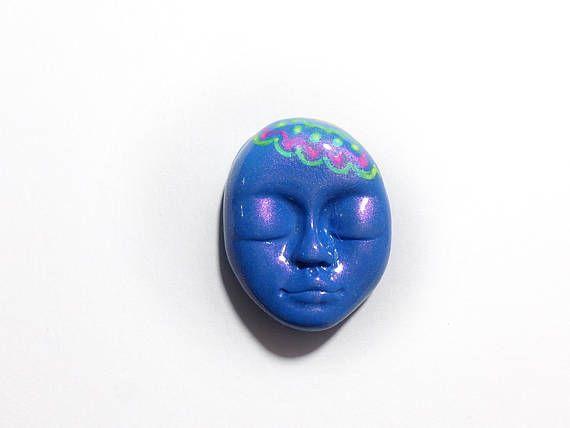 Blue Carnival mask Blue Mask Cabochon Carnival Cabochon