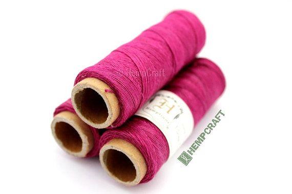 Thin Hemp Twine, Dark Pink - High Quality o.5mm Micro Macrame Cord