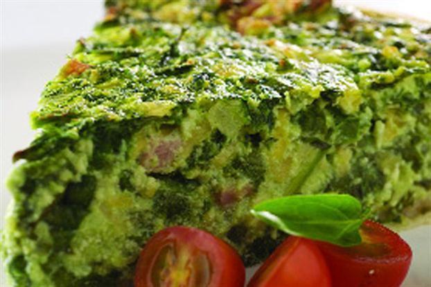 Tarta de espinaca, ricota y jamón - revistamaru.com