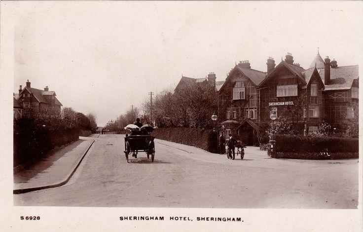 RPPC horse and carriage, Sheringham Hotel street scene | eBay