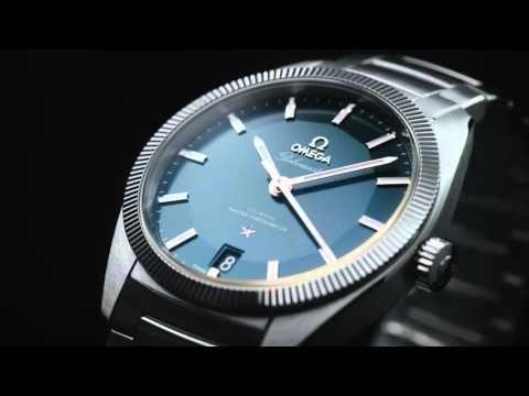 Omega Constellation Globemaster 39mm Blue Dial Bracelet Watch