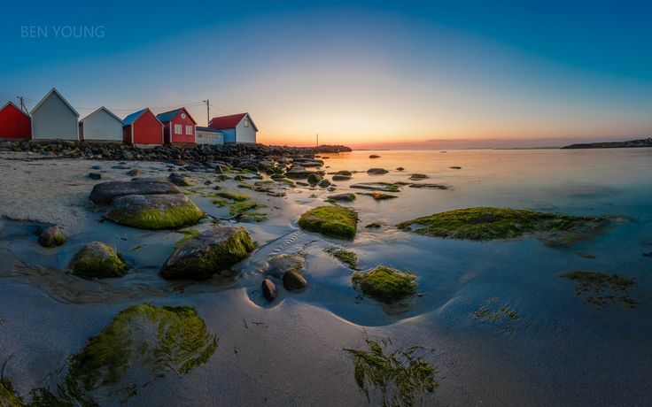 Sunset at Ølberg - I stayed the night at Ølberg Camping and walked down to the beach to capture the colours after the sun had gone down.