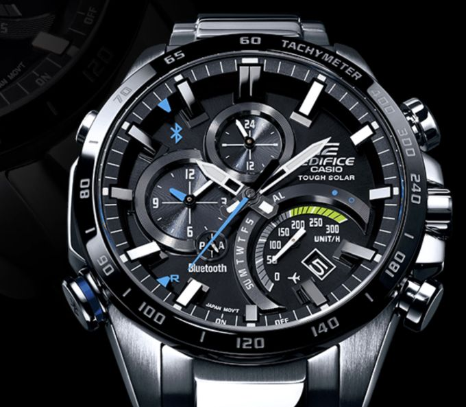 The Casio Edifice EQB501 takes a licking connects to your cellphone