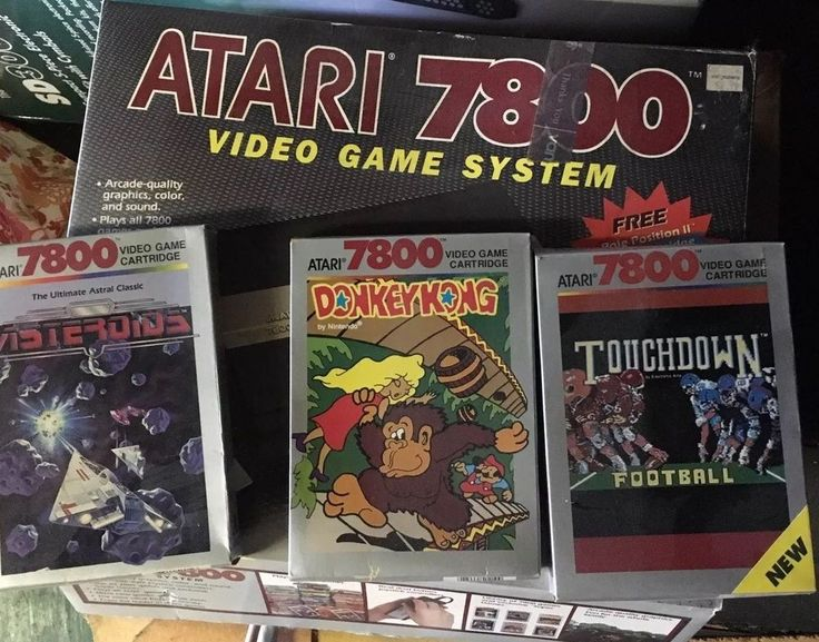 Atari 7800 Console, Controllers, Manual, Games Donkey King, Asteroids and more  | eBay