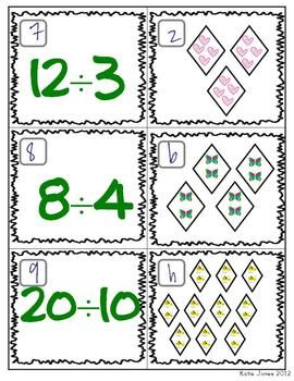 FREEEEE division matching game - great as an introduction, or to help students who are visual learners