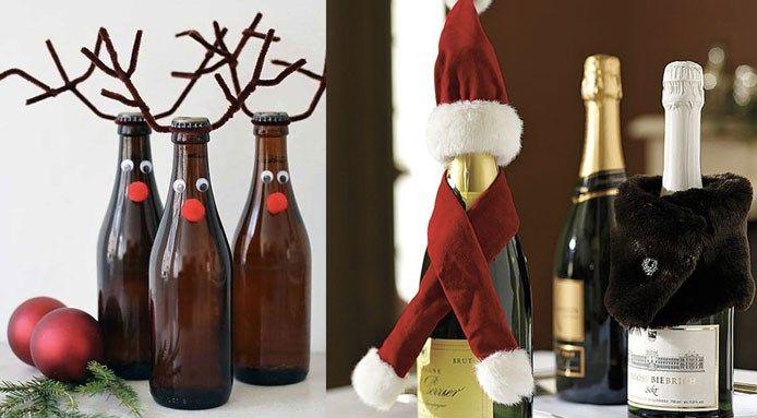 Decorazioni di Natale, idee geniali con le bottiglie di vino