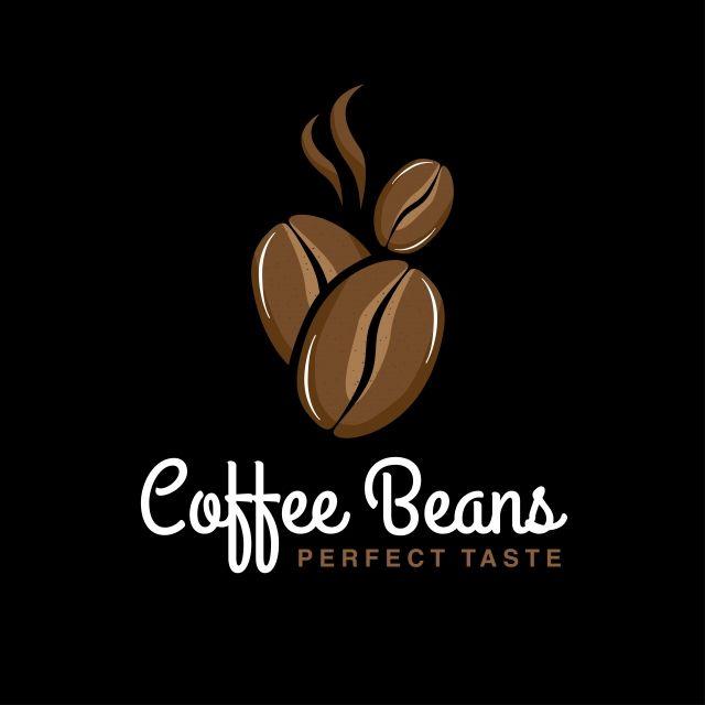 Logo Coffee Beans In 2020 Coffee Beans Coffee Bean Logo Coffee Logo