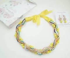 Necklace summer 2014 | via Facebook #necklace #colors #summer2014 #handmade #jewelry #accessoriesmaria