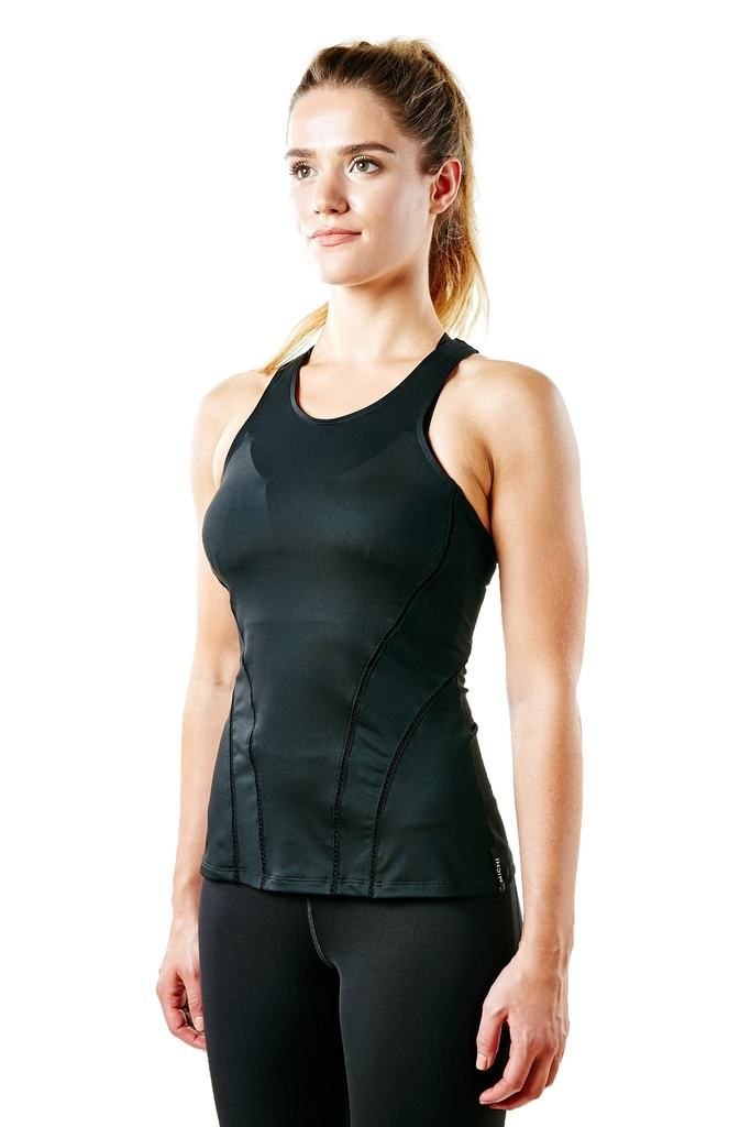 Michi Pipeline Tank Top - Black #activetop #workoutstyle #blacktop