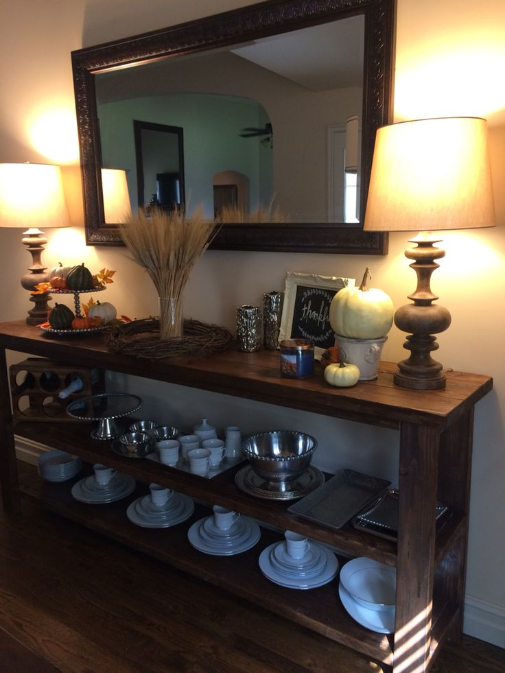 dining room console table fall grandmasdishes home