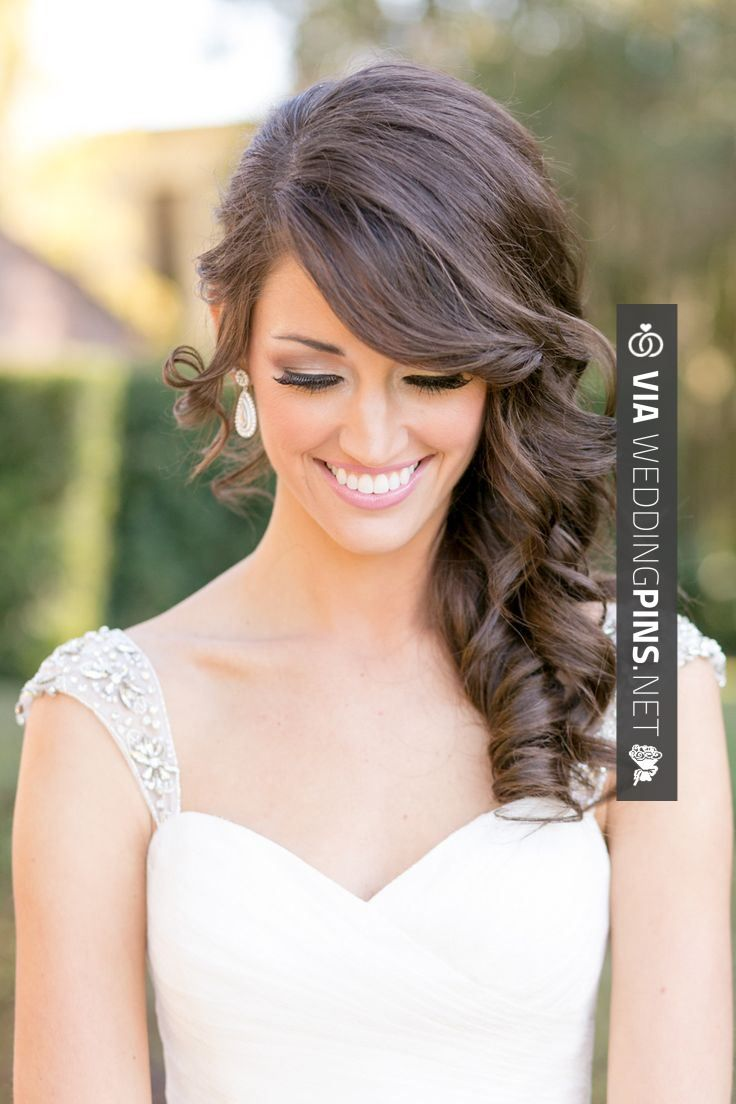 76 best side swept wedding hair images on pinterest | bridal